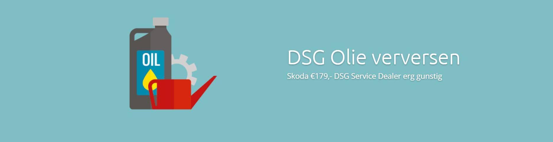 Skoda DSG Olie Verversen €179 DSG Skoda Olie Vervangen bij schakel klachten DSG oliewissel Skoda is bij DSG Service Dealer erg gunstig €179